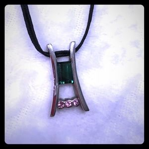 Sterling silver and tourmaline pendant